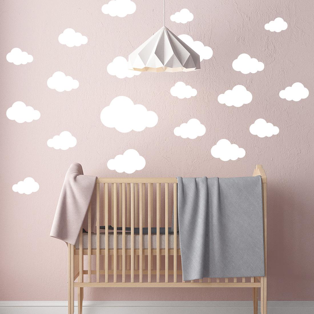 Muurstickers Kinderkamer Goedkoop.Muursticker Babykamer Wolken Set Eigen Kleur 12 95 Gratis