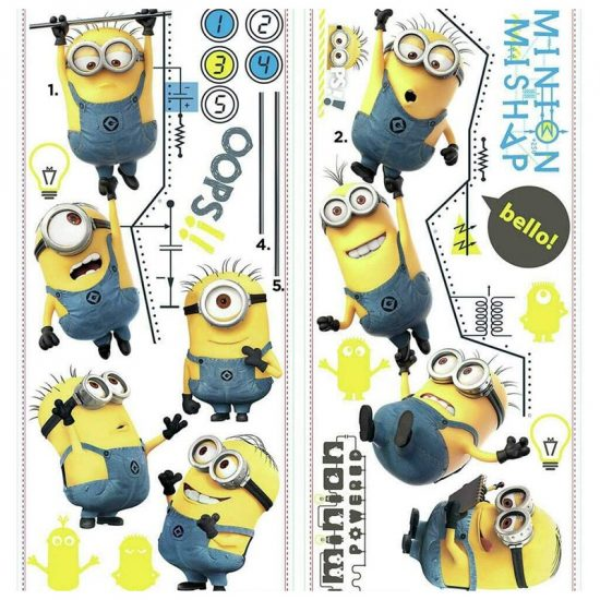 muursticker despicable me minions