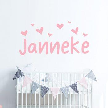 muursticker babykamer naam roze zacht lieflijk ideeen inspiratie