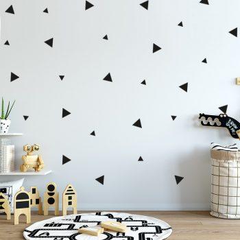 muursticker-driehoeken-driehoekjes-patronen-scandinavische-kinderkamer