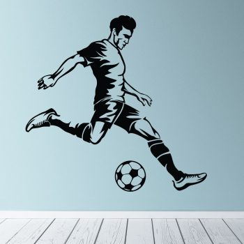 schietende-voetballer-muursticker-kinderkamer-stoer-eigen-kleur