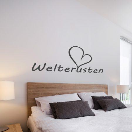 welterusten met hart goedkoop duurzame slaapkamer muurstickers
