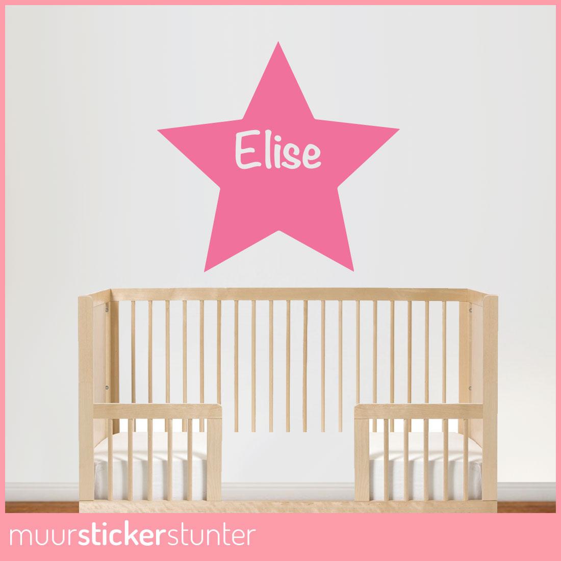 Naam Muursticker Babykamer.Naam In Ster Muursticker V A 12 95 Nu Met Gratis Verzending