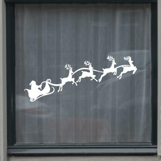 raamsticker kerst dorp statische folie wit sneeuw herbruikbaar