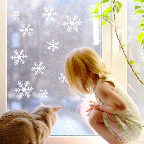 sneeuwvlok-raamsticker