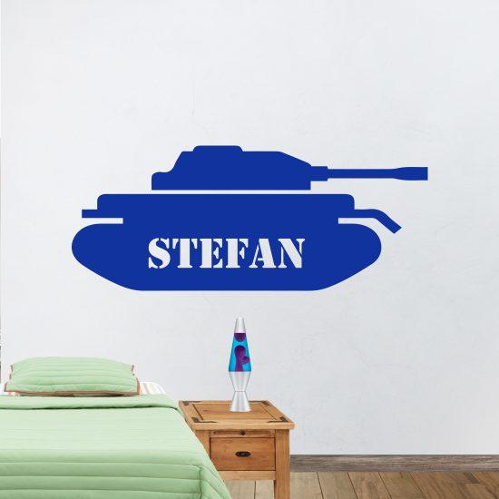 tank-met-naammuursticker-eigen-naam-leger-tank-