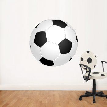 grote voetbal op muursticker wandsticker sticker