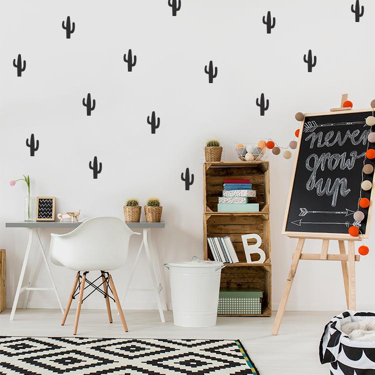 Stickers Voor Op De Muur Kinderkamer.Muursticker Cactus In Eigen Kleur Formaat