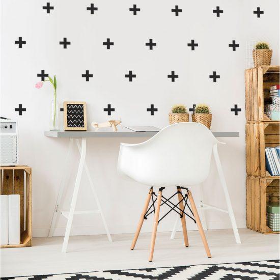 muursticker-kruisjes-plusjes-kruis-muurstickers-wandstickers-plusjes-zwart-wit-set-goedkoop