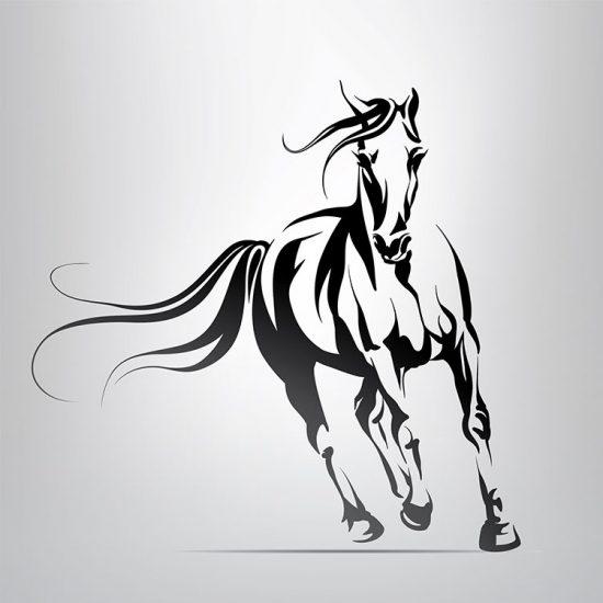 paard-muursticker