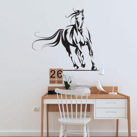 Paarden Sticker Muur.Muursticker Paard Kies Eigen Formaat Kleur 14 95 Gratis Verzending