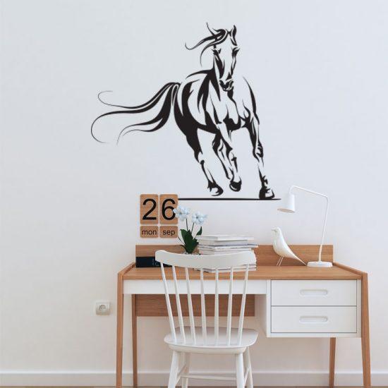 paarden-muursticker