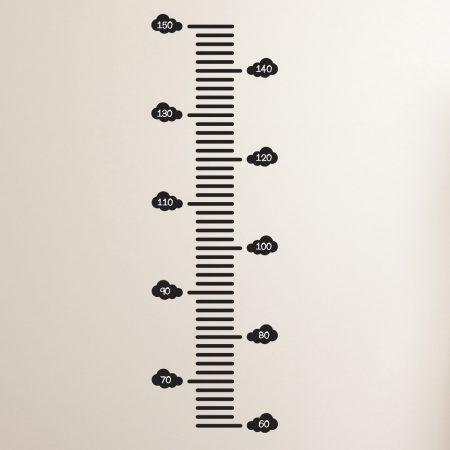 Groeimeter Muursticker Met Wolken