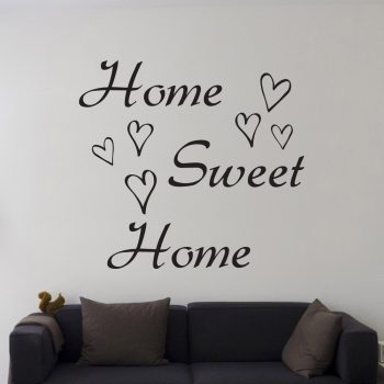 home-sweet-home-muursticker-woonkamer-zwart-wit-goedkoop-muurstickerstunter
