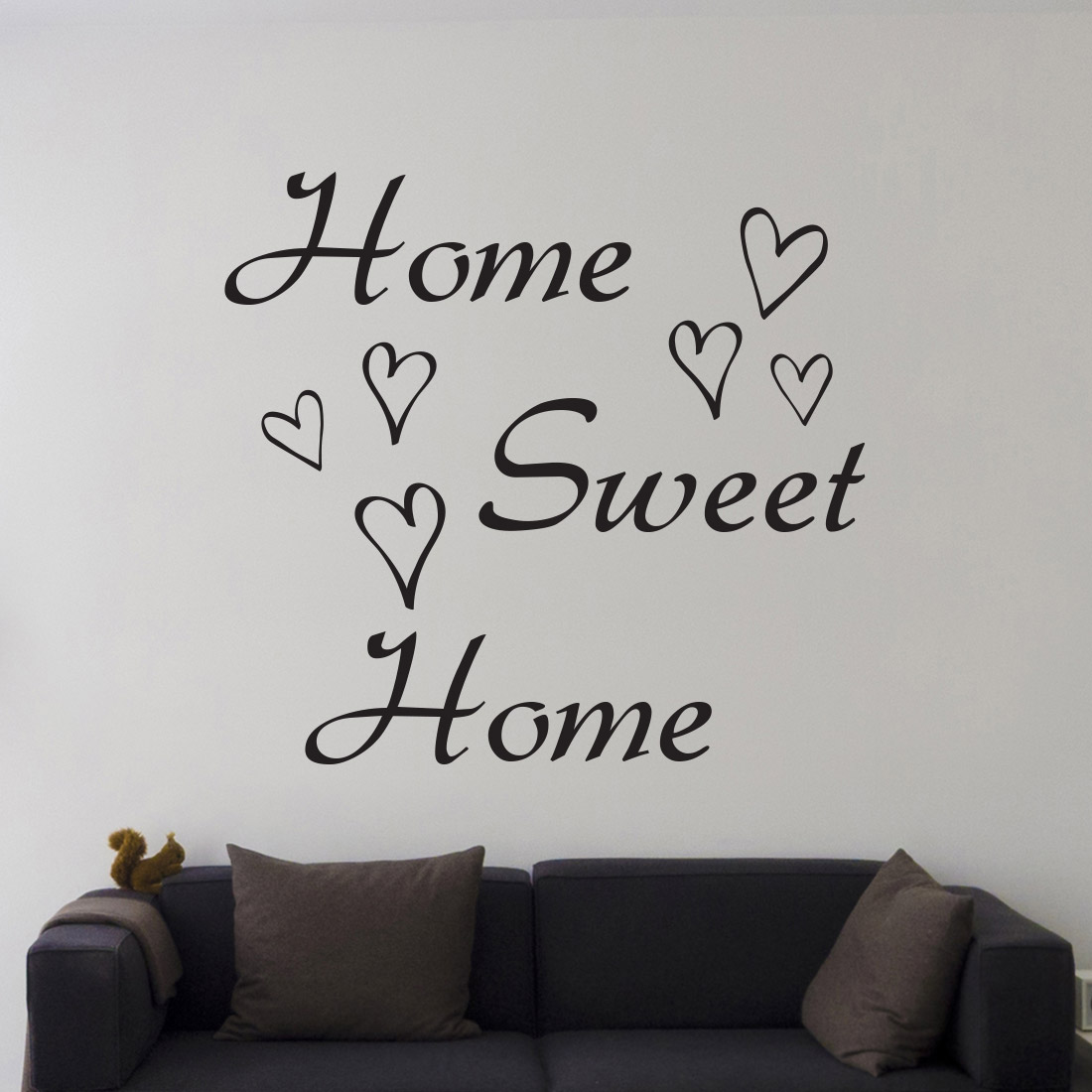 Home Sweet Home Muursticker - Muurstickerstunter.nl