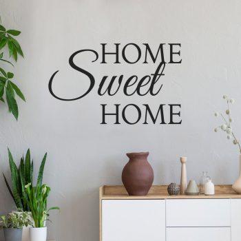 Muursticker Home Sweet Home.Muursticker Home Sweet Home Personaliseerbaar V A 12 95