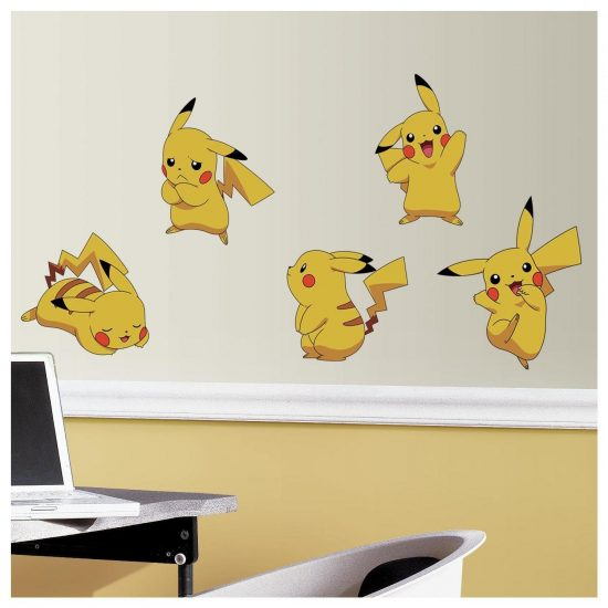 Pikachu set muurstickers pokemon