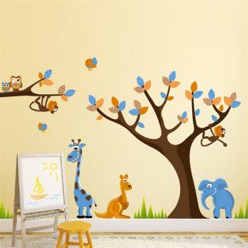 Muursticker Giraffe Kinderkamer.Muurstickers Dieren Voor Kinderkamer V A 9 95 Altijd Gratis