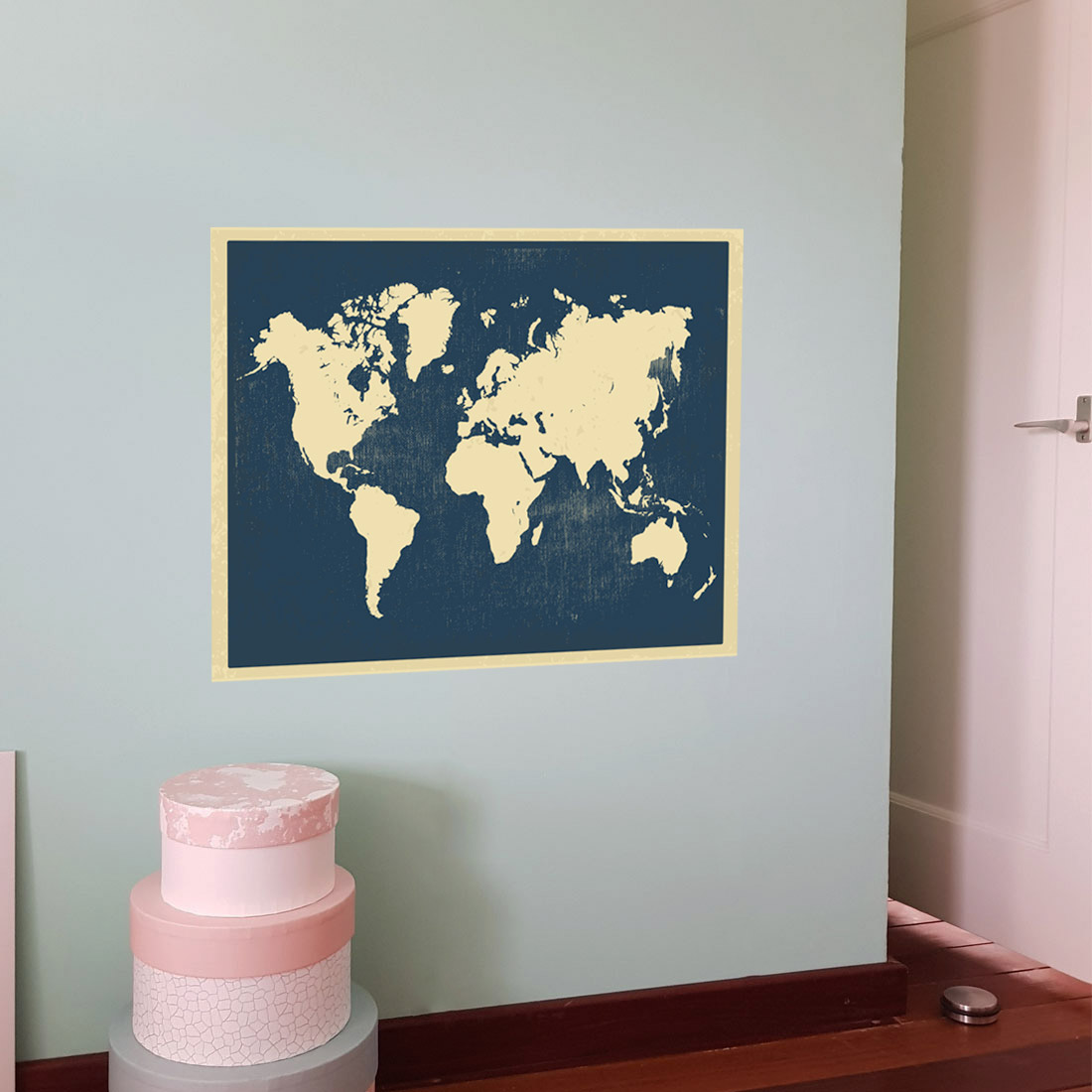 Muursticker Wereldkaart Krijt.Wereldkaart Op Muur Gallerywall With Wereldkaart Op Muur