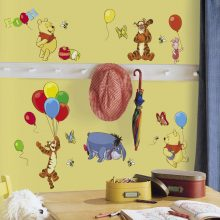 Winnie the pooh muurstickers kinderkamer set Roommates Rmk1498Scs Pooh And Friends Peel & Stick Wall Decal 1