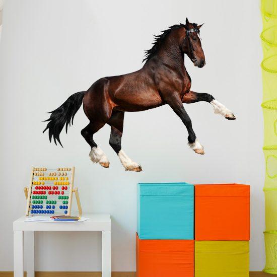 muursticker-paard-galopperend-bruin-kinderkamer-echt-goedkoop