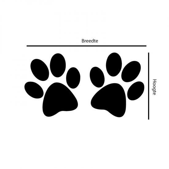 hondenpootjes-stickers