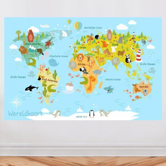 muursticker-wereldkaart-kinderkamer-leerzaam-nederlands