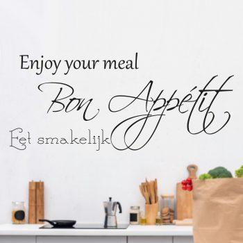 Eet smakelijk-muursticker-bon appetit-