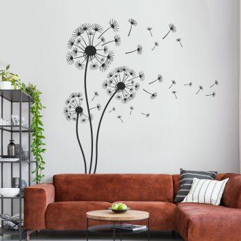 muursticker-paardenbloemen-wind-pluisjes-dandelion