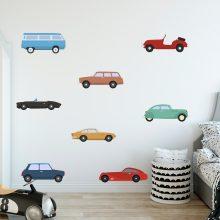 muurstickers-autos-kinderkamer-kleurrijk