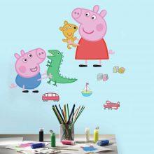 Peppa Pig Muursticker
