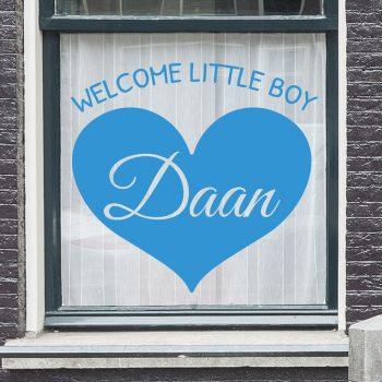geboorstesticker-jongen-welcome-little-boy