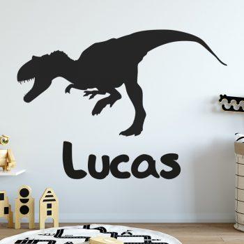 muursticker-dino-met-naam-dinosaurus