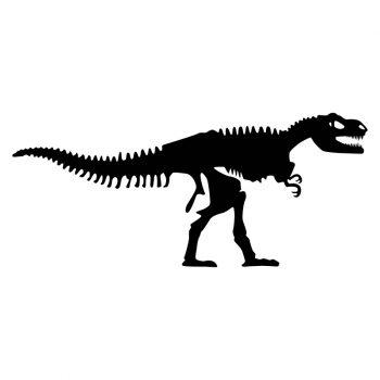 muursticker dinosaurus kinderkamer dinokamer zwart ideeen inspiratie