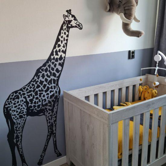 muursticker giraffe dieren afrikaanse jungle