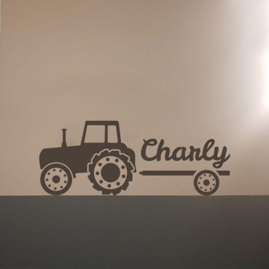 muursticker tractor trekker weiland boeren inspiratie ideeen stoere kinderkamer