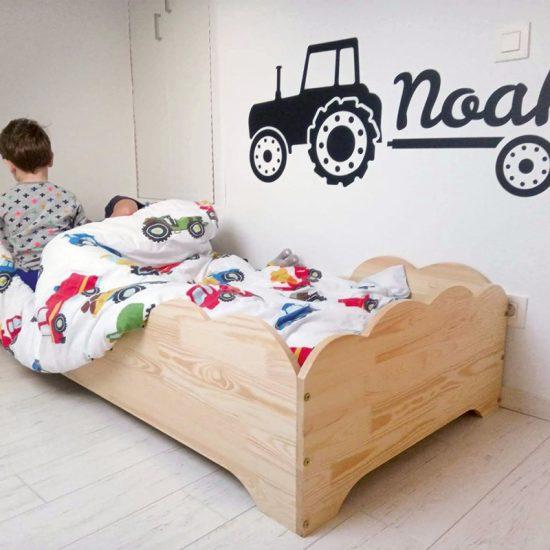 muursticker tractor zwart trekker kinderkamer ideeen inspiratie