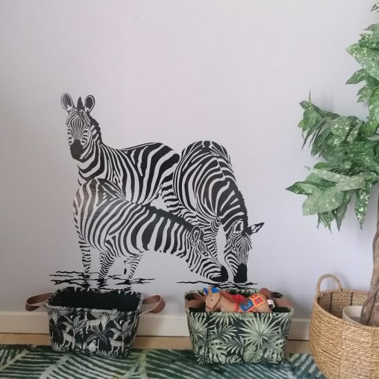 muursticker zebra sticker dieren jungle inspiratie kinderkamer ideeën
