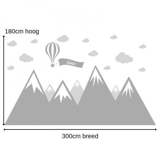 muursticker-bergen-babykamer-grijs