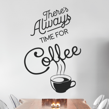 muursticker-koffiekopje-coffee-theres-always-time-for-coffee-sticker-keukensticker-woonkamer-muursticker