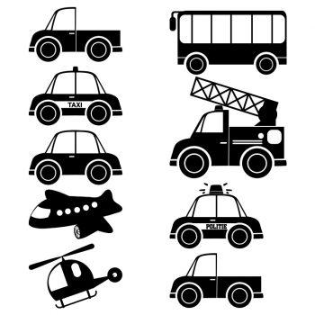 muursticker voertuigen auto stickers