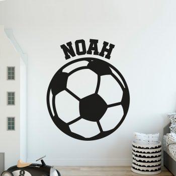 muursticker-voetbal-met-naam