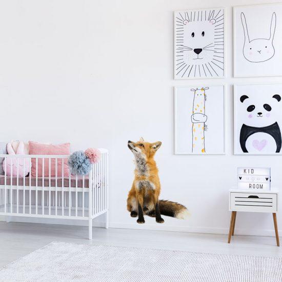 muursticker-vos-babykamer-muurstickers-ideeen-leuk-bos