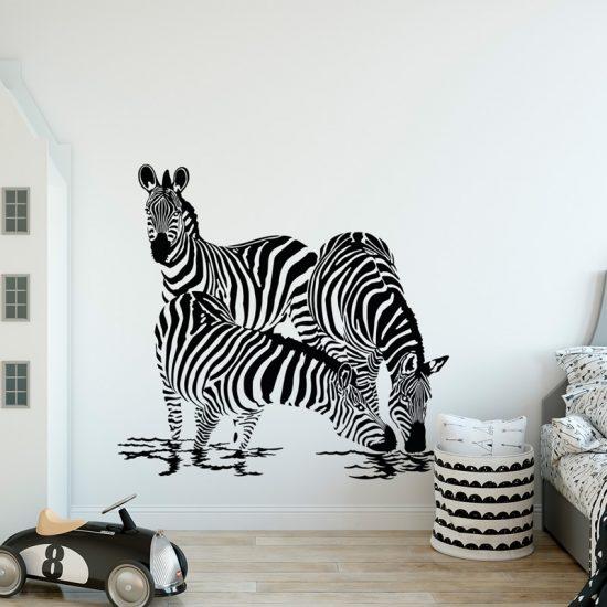 muursticker-zebras-kinderkamer
