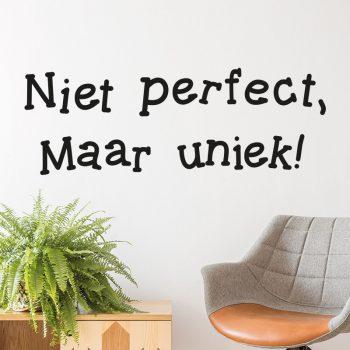 muursticker-niet-perfect-maar-uniek-quote-inspiratie-diy-zwart-tekst-muurtekst