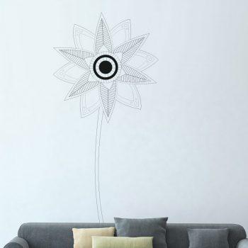 muursticker-bloem-paardenbloem-zwart-kinderkamer-woonkamer-diy-goedkoop-leuke-ideeen