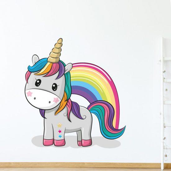 muursticker-eenhoorn-unicorn-kleurrijk-lief-voor-babykamer-ideeen-diy-doe-het-zelf-fleurig