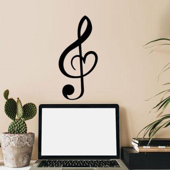 muzieknoot-liefde-muursticker-sticker-sleutel-music-love-zwart-klein-diy-goedkoop-ideeen-werk-bureau