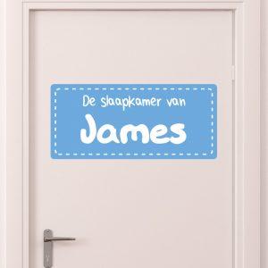 deursticker kinderkamer jongen blauw