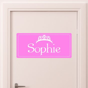 deursticker kinderkamer naam kroon princess prinsessenkamer